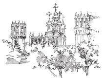 Iglesia, Rusia Foto de archivo libre de regalías