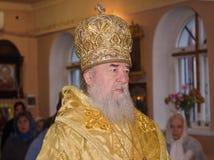 Iglesia, sacerdote de la religión del ?hristianity Fotografía de archivo