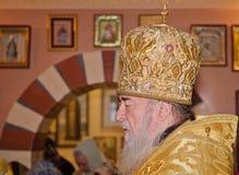 Iglesia, sacerdote de la religión del ?hristianity imagen de archivo