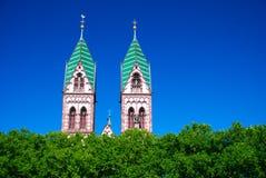 Iglesia sagrada del corazón de Jesús, Freiburg en Breisgau Foto de archivo libre de regalías