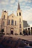 Iglesia sagrada del corazón en el centro de Peoria foto de archivo