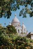 Iglesia sagrada del corazón en París Fotos de archivo
