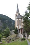 Iglesia Saint Vincent del peregrinaje en Heiligenblut Imágenes de archivo libres de regalías