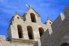 Iglesia Saintes Maries de la Mer, Camargue, Francia Foto de archivo libre de regalías