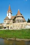 Iglesia sajona del Lutheran en Transilvania Imagenes de archivo