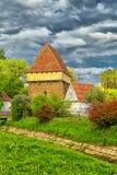Iglesia sajona en Bradeni fotografía de archivo