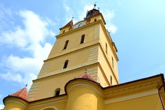 Iglesia sajona medieval fortificada en Cristian Fotografía de archivo libre de regalías
