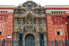 Iglesia San Agustin,Lima stock photography