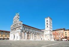 Iglesia San Micaela in foro, Lucca, Italia Imagen de archivo libre de regalías