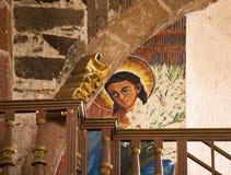 Iglesia San Miguel México de Parroquia de la pintura del ángel Imagen de archivo