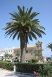 Iglesia San Nicolás del topo en el cuadrado de Solomos Fotografía de archivo libre de regalías
