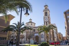 Iglesia San Pedro Apostol en el EL Grao, distrito marítimo Castello imágenes de archivo libres de regalías