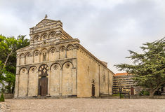 Iglesia San Pietro di Sorres en Borutta Fotografía de archivo libre de regalías