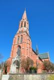 Iglesia Sankt Nicolás en Zwiesel, Baviera Fotografía de archivo