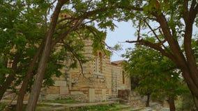 Iglesia santa antigua de los apóstoles en Atenas, santuario religioso antiguo, herencia almacen de video
