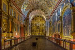 Iglesia Santa Clara los angeles Candelaria Bogota Kolumbia obraz royalty free