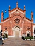 Iglesia Santa María del Carmine en Milano Imagen de archivo
