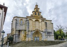 The Iglesia Santa Maria church in Gernika, a historic town in the province of Biscay Bizkaya, Spain. The Iglesia Santa Maria church in Gernika, a historic town Royalty Free Stock Photography