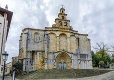 Iglesia Santa Maria kościół w Gernika, historyczny miasteczko w prowinci Biskajski Bizkaya, Hiszpania Fotografia Royalty Free