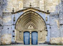 Iglesia Santa Maria kościół w Gernika, historyczny miasteczko w prowinci Biskajski Bizkaya, Hiszpania Zdjęcie Stock
