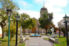 Iglesia Santo Domingo en el La Serena, Chile Foto de archivo libre de regalías