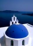 Iglesia Santorini, Grecia Imágenes de archivo libres de regalías