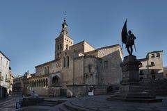 Iglesia Segovia de San Martín Foto de archivo