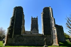 Iglesia St Andrew, Walberswick Reino Unido de las ruinas, Imagenes de archivo