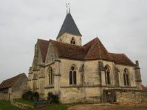 Iglesia St Denis en Chérence Imagen de archivo libre de regalías