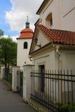 Iglesia St Pancras - monumentos culturales de la ciudad de Praga 4 Fotos de archivo