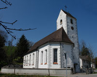 Iglesia suabia imagen de archivo