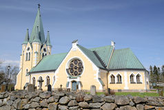 Iglesia sueca medieval Fotografía de archivo libre de regalías
