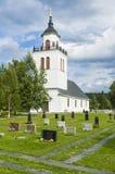 Iglesia Suecia de Overhogdal Imagen de archivo libre de regalías