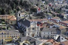 Iglesia suiza en Bellinzona Imágenes de archivo libres de regalías