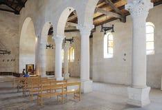 Iglesia Tabgha, interior Foto de archivo libre de regalías