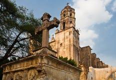 Iglesia Tepoztlan de Natividad Imágenes de archivo libres de regalías