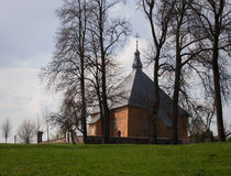 Iglesia triangular Imagen de archivo