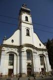 Iglesia unitaria en Cluj-Napoca (Rumania) Foto de archivo libre de regalías