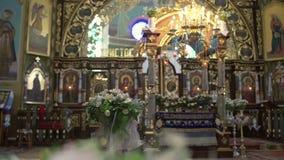 Iglesia vieja Arquitectura cristiana de la religión Catedral vieja católica religiosa dentro Edificio de la fe del cristianismo almacen de metraje de vídeo