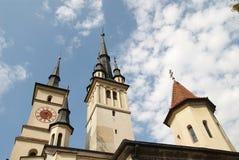 Iglesia vieja Brasov de Nicholas del santo Imagen de archivo
