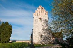 Iglesia vieja de Hojerup en Stevns Fotos de archivo libres de regalías