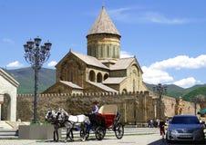 Iglesia vieja de la catedral de Mtskheta Fotos de archivo