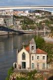 Iglesia vieja de la orilla en Portugal Imagen de archivo libre de regalías