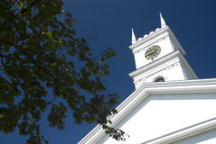 Iglesia vieja de la pesca de ballenas - Edgartown foto de archivo libre de regalías