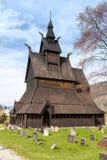 Iglesia vieja de Noruega Imagen de archivo libre de regalías