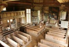 Iglesia vieja de Petajavesi dentro de la visión Imagen de archivo