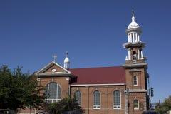 Iglesia vieja del ladrillo imágenes de archivo libres de regalías
