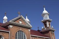 Iglesia vieja del ladrillo imagen de archivo libre de regalías