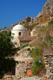 Iglesia vieja dos en Monemvasia, Grecia fotos de archivo libres de regalías