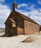 Iglesia vieja en Bodie imagenes de archivo